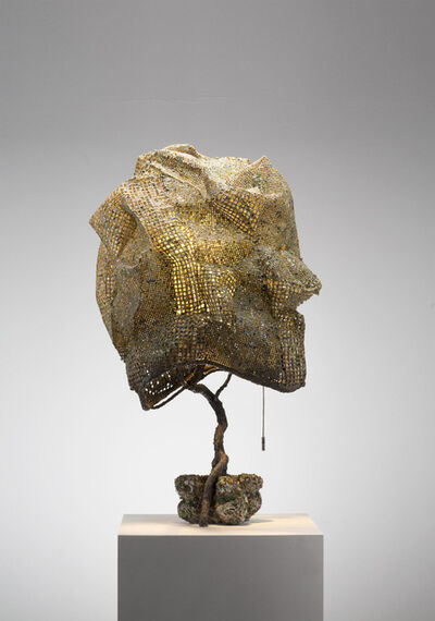 Nacho Carbonell, 'Green Cocoon Concrete Base 4 (94_2018)', 2018