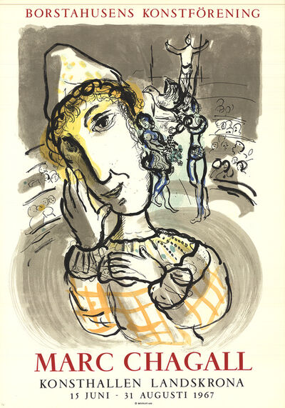 Marc Chagall, 'Circus with Yellow Clown', 1967