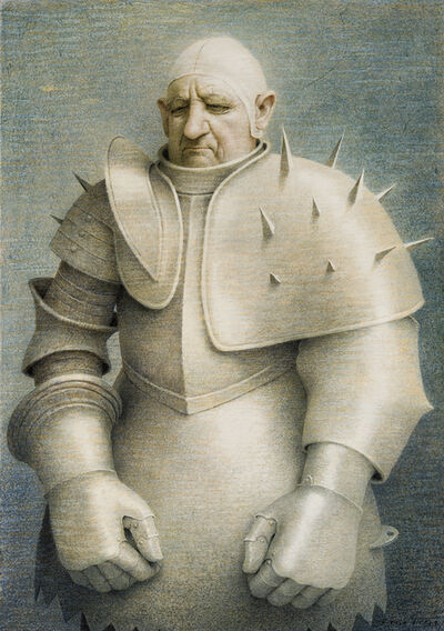 Robert Vickrey, 'Clown in Armor', 1961