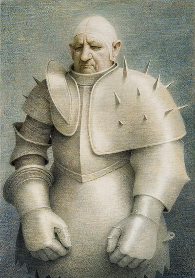 Robert Vickrey, 'Clown in Armor', 1961