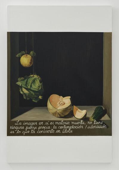 Sandra Gamarra, 'Escritura sobre naturaleza muerta I', 2019-2020