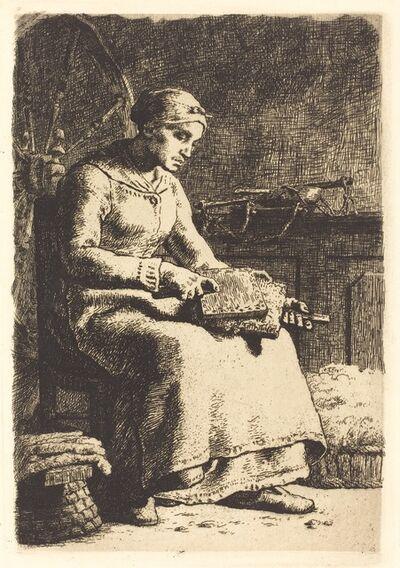 Jean-François Millet, 'The Wool Carder (La cardeuse)'
