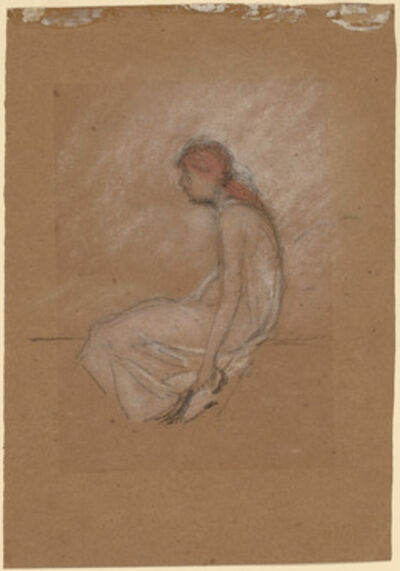 James Abbott McNeill Whistler, 'Seated Woman with Red Hair', 1870/1873