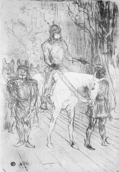 """Henri de Toulouse-Lautrec, 'Entrance of Brasseur in """"Chilperic"""" (Entrée de Brasseur dans """"Chilpéric"""")'"""