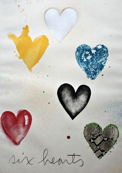 Jim Dine, 'Six Hearts (unique multiple)', 1970
