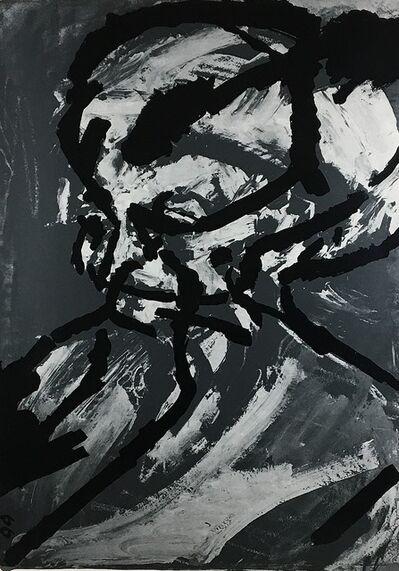 Frank Auerbach, 'Portrait of G.B. STOLEN PLEASE CONTACT', 1966