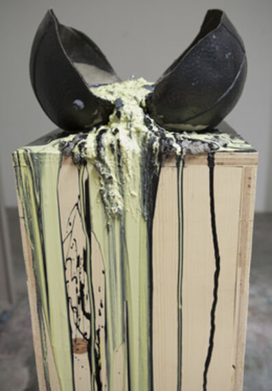 Bhakti Baxter, 'Imploded Ball Barf (wood vs. plywood)', 2011