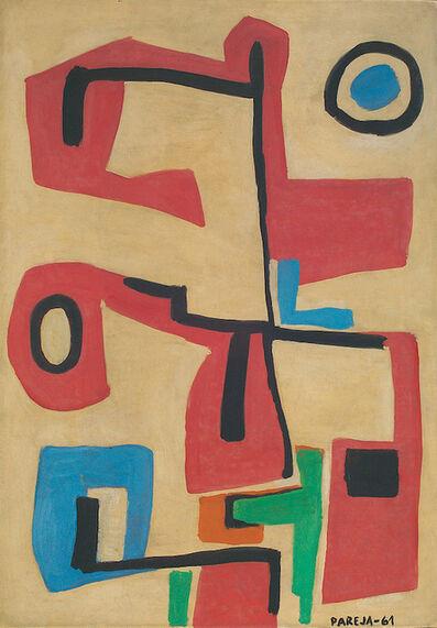 Miguel Ángel Pareja, 'Formas en rojo', 1961