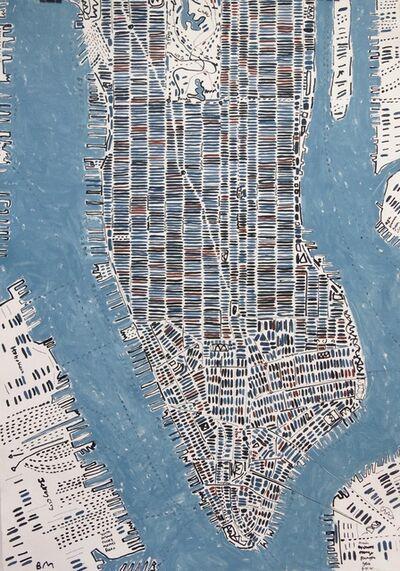 Barbara Macfarlane, 'Blue Slate And Rust Manhattan', 2016