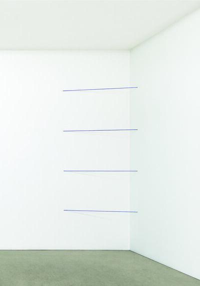 Fred Sandback, 'Untitled (Sculptural Study, Four-part Cornered Construction)', 1970-2007