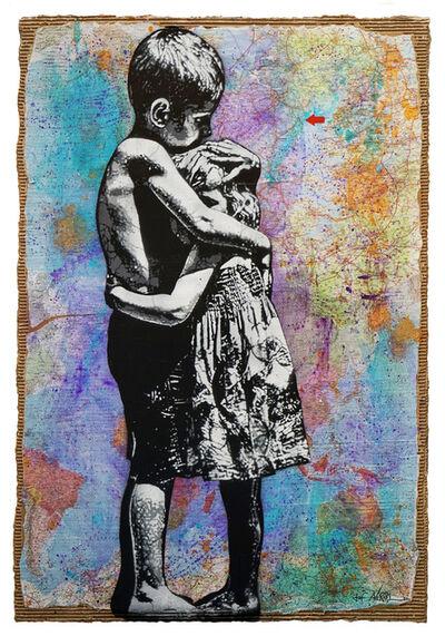 Jef Aérosol, 'COLOURFUL HUG', 2020