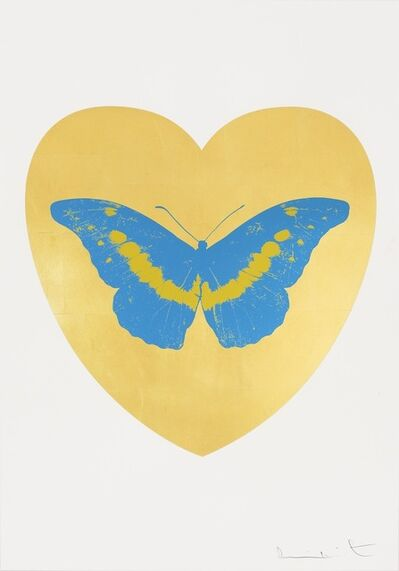 Damien Hirst, 'I Love You - gold leaf, turquoise, oriental gold ', 2015