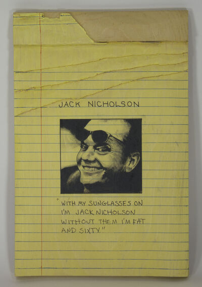 Randall Rosenthal, 'Jack Nicholson', 2018