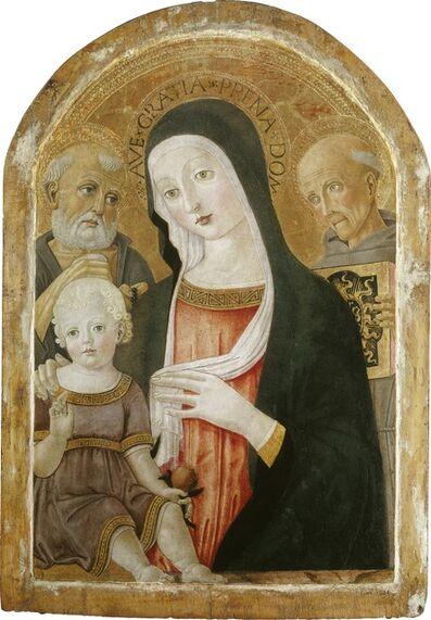 Benvenuto di Giovanni, 'Madonna and Child with Saint Jerome and Saint Bernardino of Siena', ca. 1480/1485