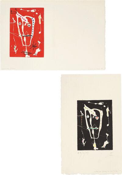 Joan Miró, 'Les brisants (The Breakers): two impressions', 1958