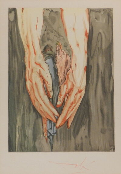 Salvador Dalí, 'Divine Comedy Hell Canto 31', 1954