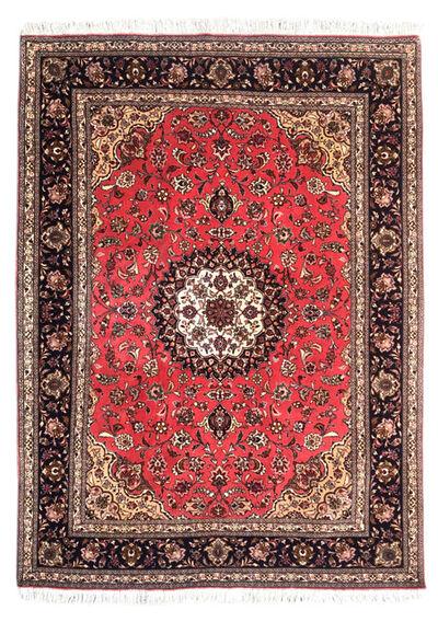 Rug, 'Persian Hand Knotted Medallion Floral Red Tabriz Rug 50 Raj ', 1999