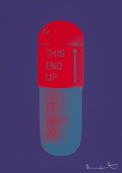 Damien Hirst, 'The Cure - Violet/Electric Red/Powder Blue', 2014