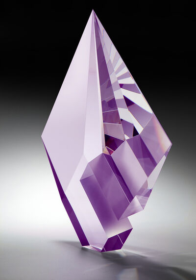 Tomáš Brzon, 'Purple Composition, Cast, Cut and Polished Glass Sculpture', 2020