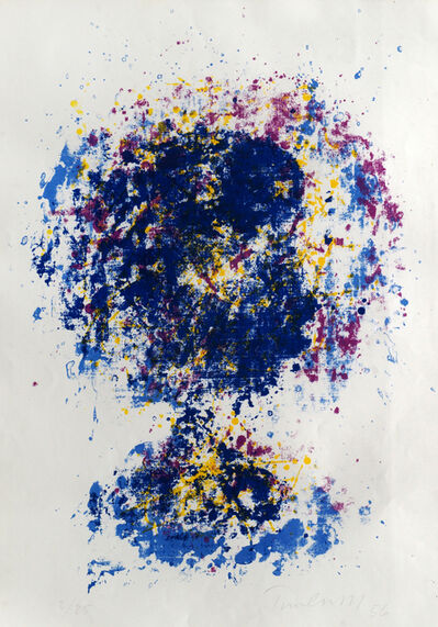 William Turnbull, 'Shattered Head - Blue and Purple and Shattered Head - Red and Blue', 1956