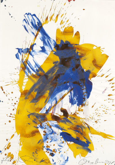 Franz Grabmayr, 'yellow-blue couple of dancers ', 1995