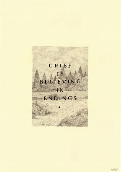 Keaton Henson, 'Grief is Believing', 2016