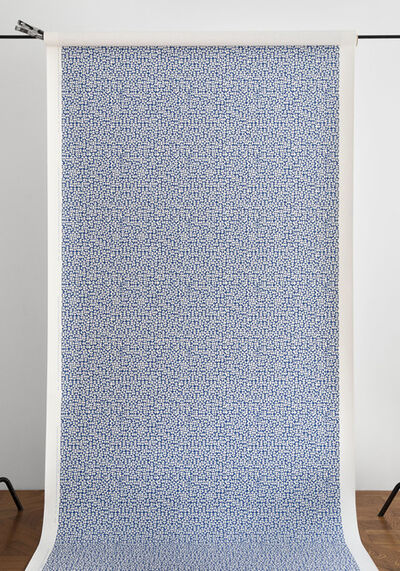 Anni Albers, 'E Wallpaper in deep blue (287U)', 2019