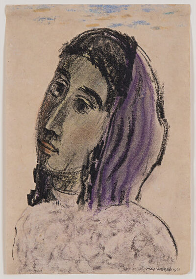 Max Weber, 'Woman with a Purple Scarf', 1921