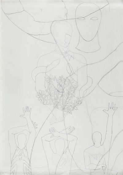 Belkis Ayón, 'Study for Siempre Vuelvo', 1993