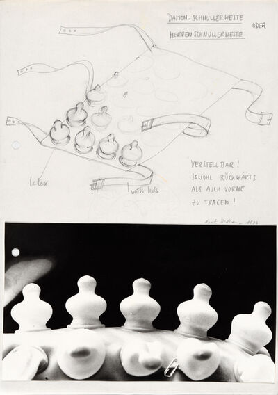 Renate Bertlmann, 'Schnuller Weste III (Pacifier vest III)', 1976