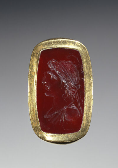'Engraved Gem Inset Into a Hollow Ring',  1st century B.C.