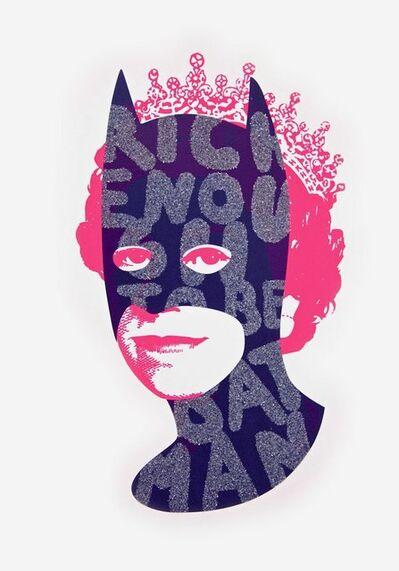 Heath Kane, 'Rich Enough to be Batman - Blue and Pink Glitter', 2021