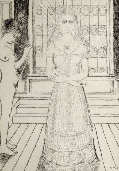 Paul Delvaux, 'Stained-glass Window', 1969