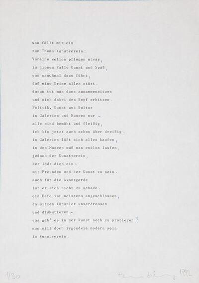 Heimo Zobernig, 'Untitled', 1992