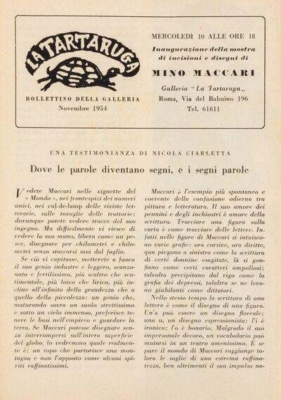 Mino Maccari, 'Bollettino'