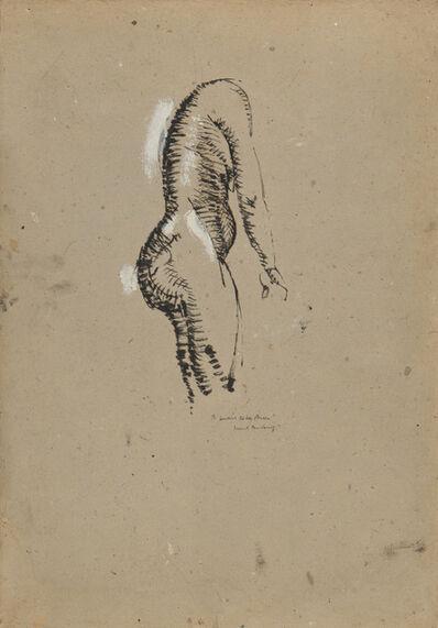 Marcel Duchamp, 'Nu debout de profil', ca. 1910