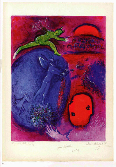 Marc Chagall, 'Lamon's and Dryas's Dream, from Daphnis et Chloe', 1961