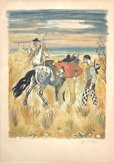 Yves Brayer, 'Horses in the countryside', 1972