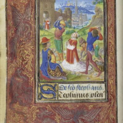 Lievan van Lathem, 'The Stoning of Saint Stephen', 1469