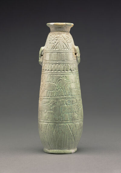 'East Greek Faience Alabastron',  about 580 B.C.