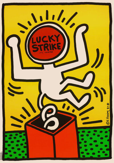 Keith Haring, 'Lucky Strike Advertising Plaque', 1987