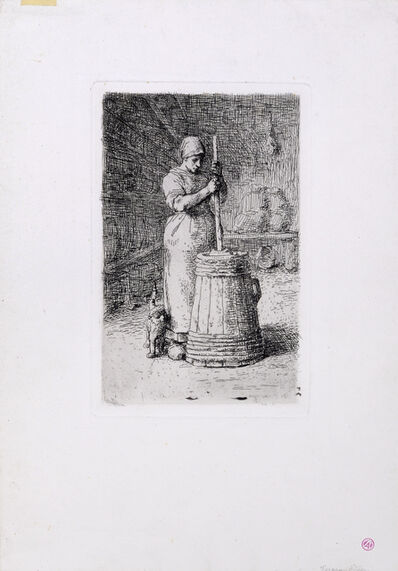 Jean-François Millet, 'La Baratteuse', 1855