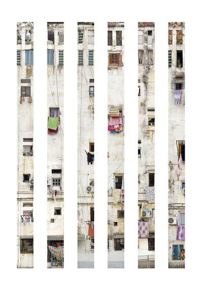 """Stéphane Couturier, 'Alger - Cité """"Climat de France"""" - Façade #1 - Polyptych', 2015"""