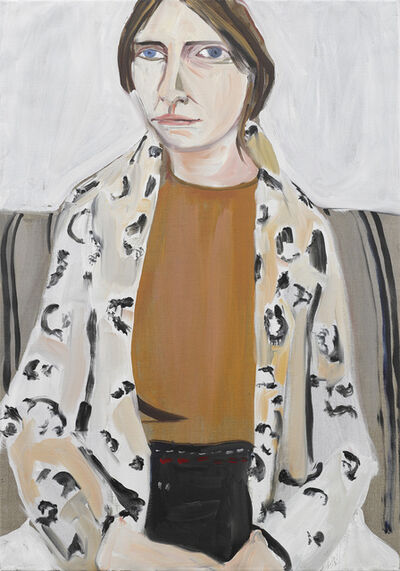Chantal Joffe, 'Megan in a Leopard Print Coat', 2019