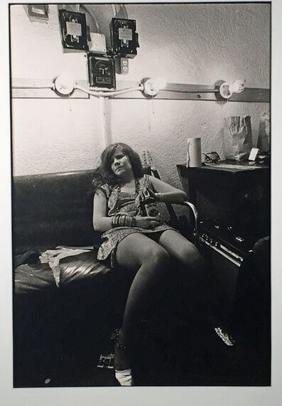 Jim Marshall, ' JANIS JOPLIN BACKSTAGE AT THE WINTERLAND, SAN FRANCISCO.', 1968