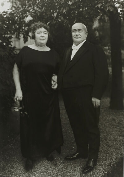 August Sander, 'I/5/13 Gentleman Farmer and Wife', 1924