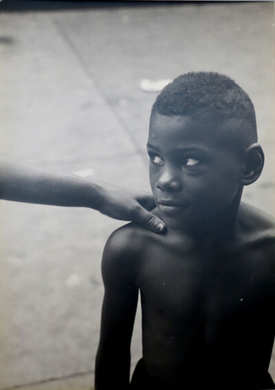 Roy DeCarava, ''Kids God Bless,' From Belafonte, New York 19 (Boy With Woman's Hand on Shoulder)', 1952