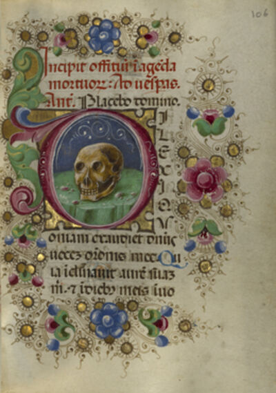 Taddeo Crivelli, 'Initial D: A Skull in a Rocky Field', 1469