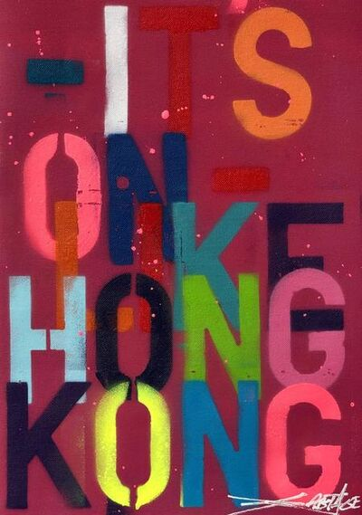 Szabotage, 'IT'S ON LIKE HONG KONG RED (canvas unframed)', 2020