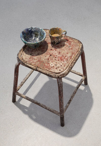 Sofie Lachaert & Luc d'Hanis, 'A splash of colour / precious stool'